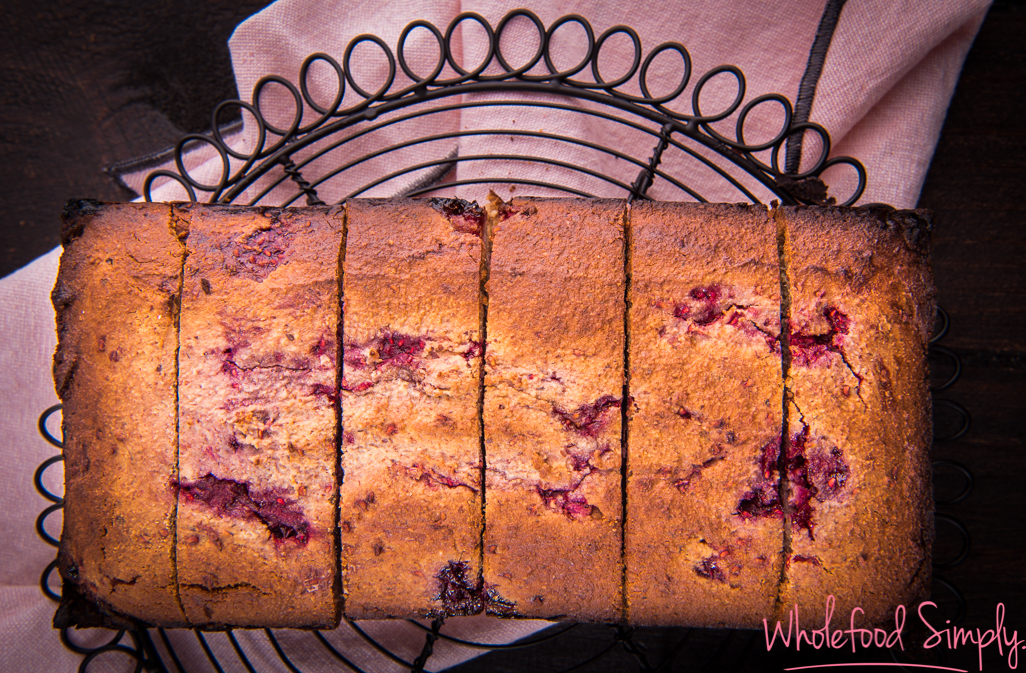 5 Ingredient Raspberry Bread