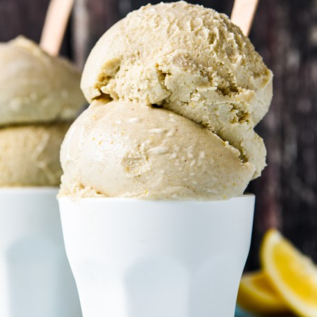 lemon and coconut ice cream