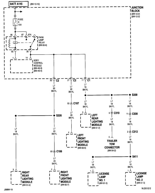 small resolution of 2000 jeep grand cherokee trailer wiring diagram