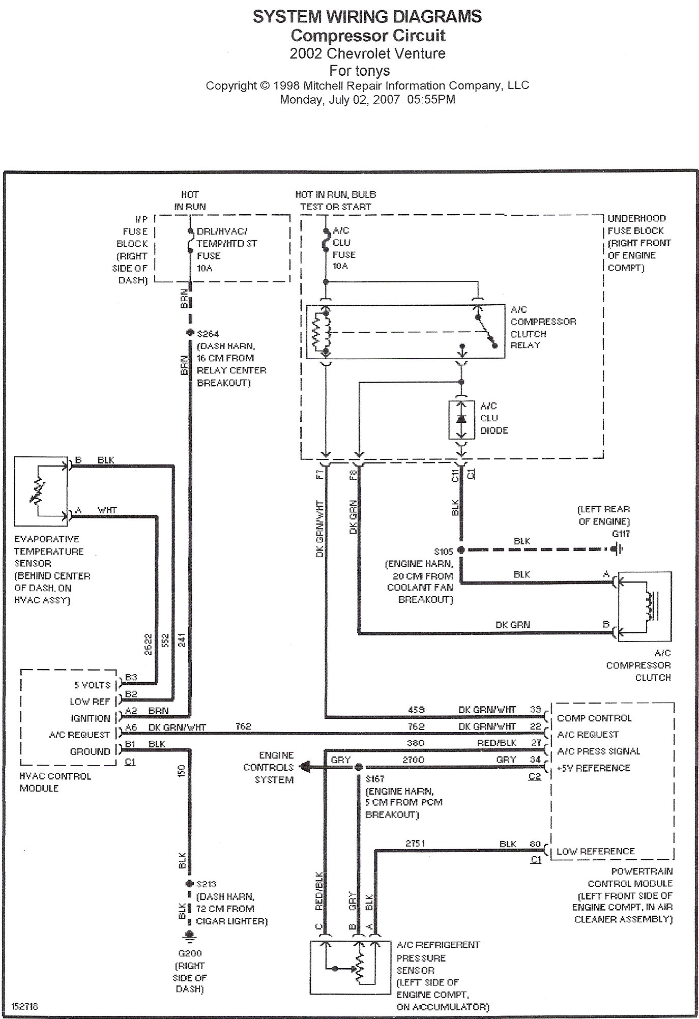 50 Inspirational 2001 Chevy Venture Cooling Fan Wiring Diagram