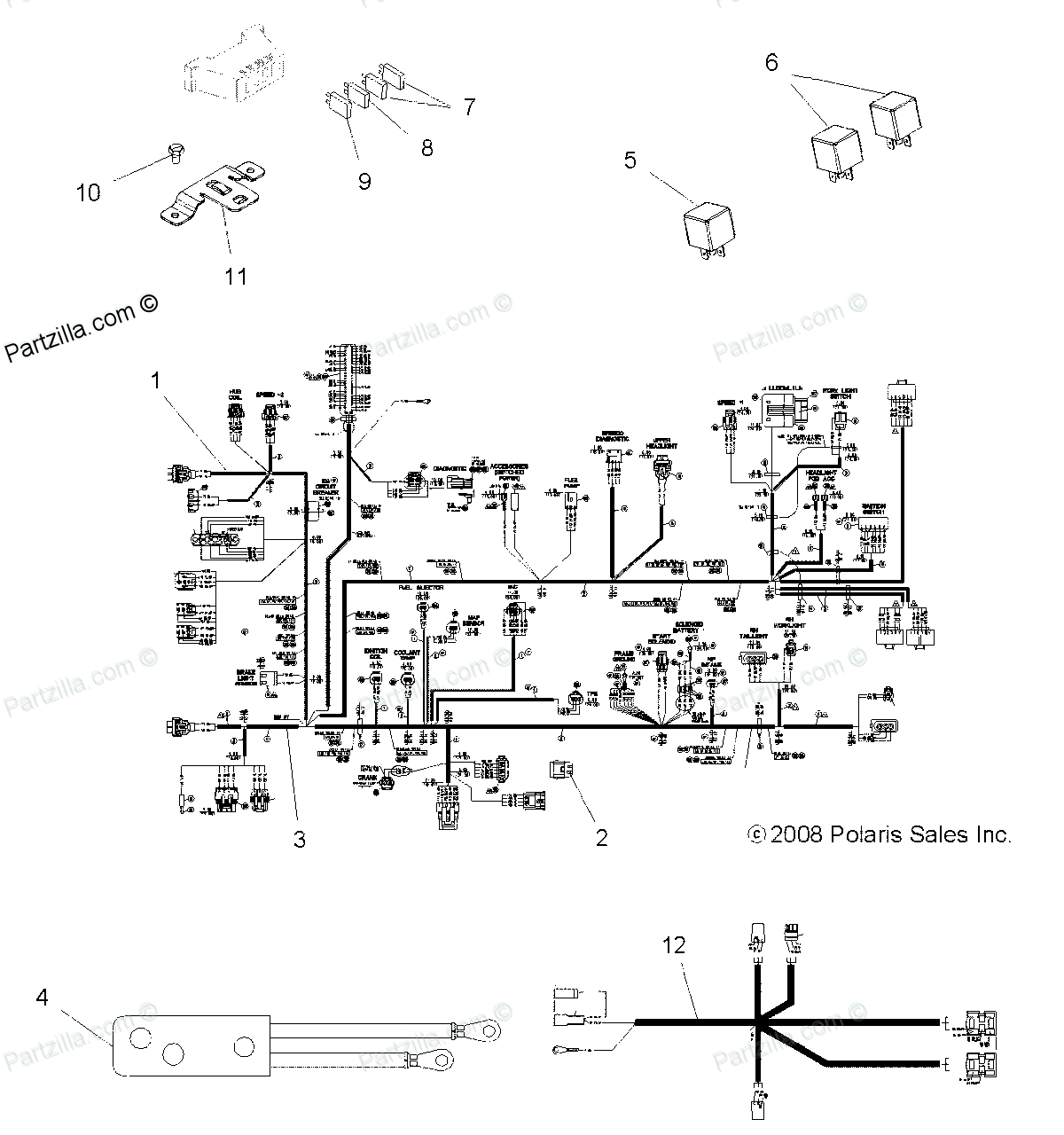 2008 polaris sportsman 800 twin wiring diagram - auto ... polaris 600 classic wiring diagram 2008 gibson les paul classic wiring diagram #13