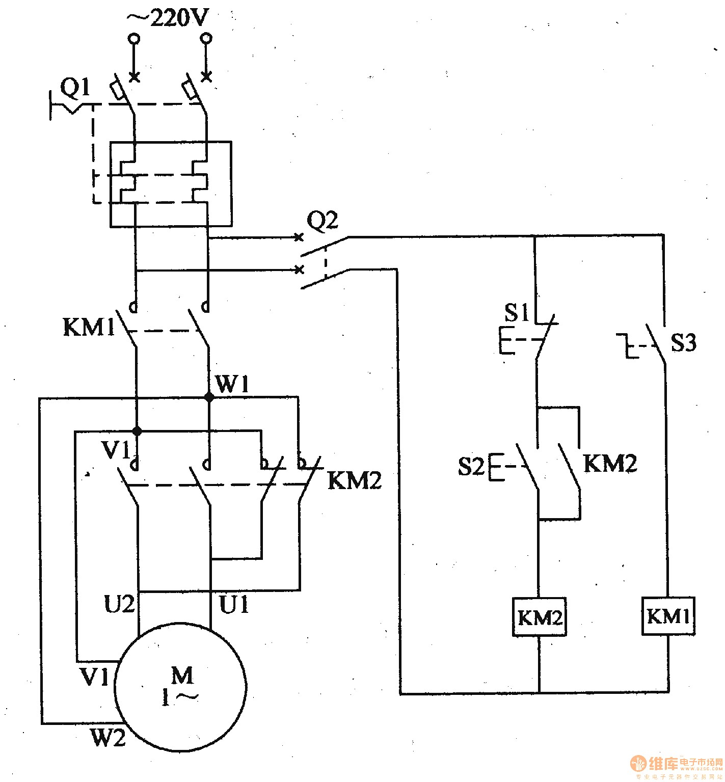 wiring a reversible motor circuit diagram
