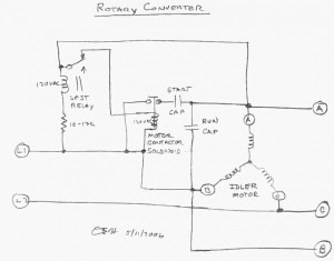 3 Phase Rotary Converter Wiring Diagram Download