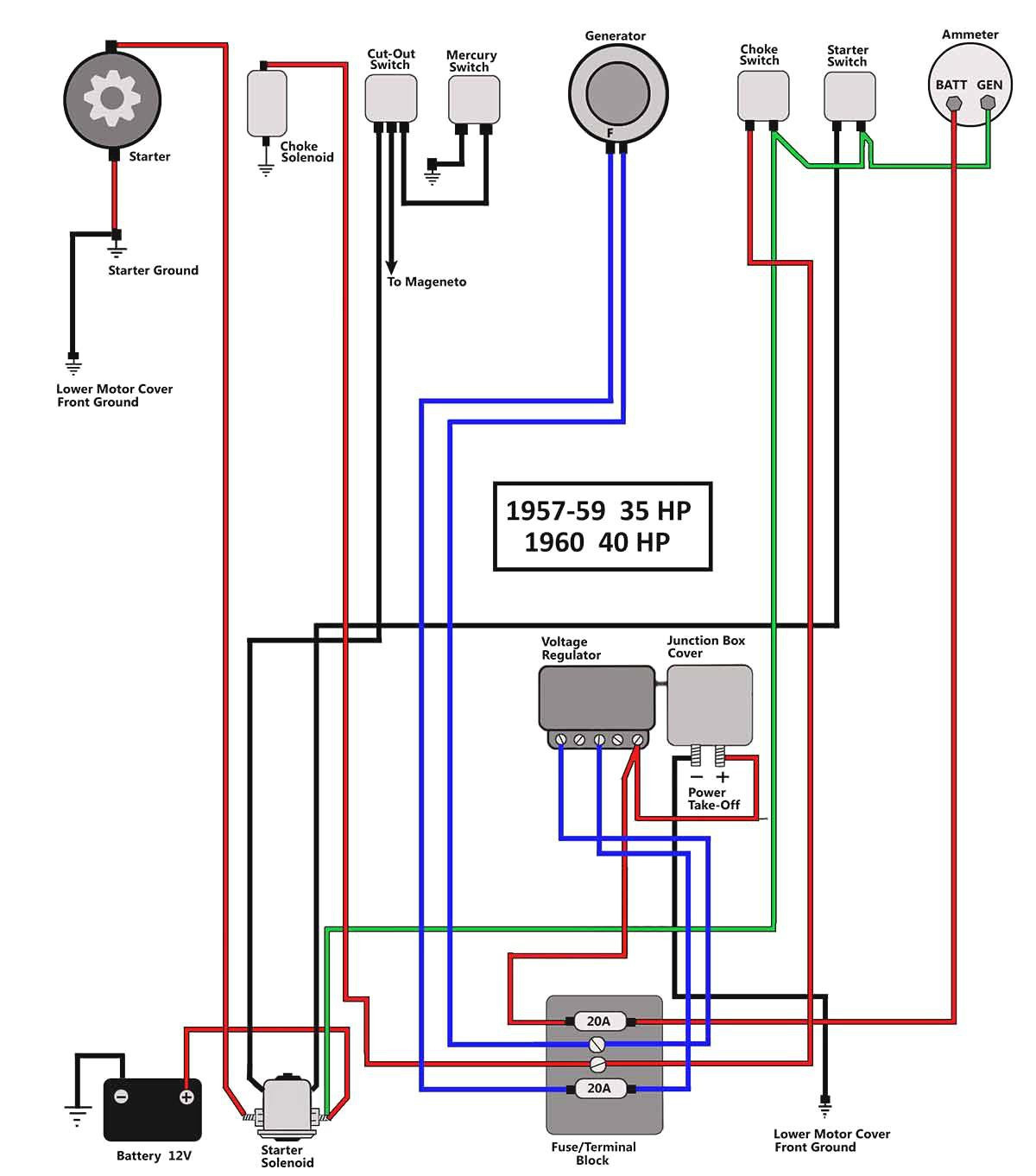 hight resolution of 50 hp mercury outboard wiring diagram mercury outboard wiring diagram ignition switch unique motor marine