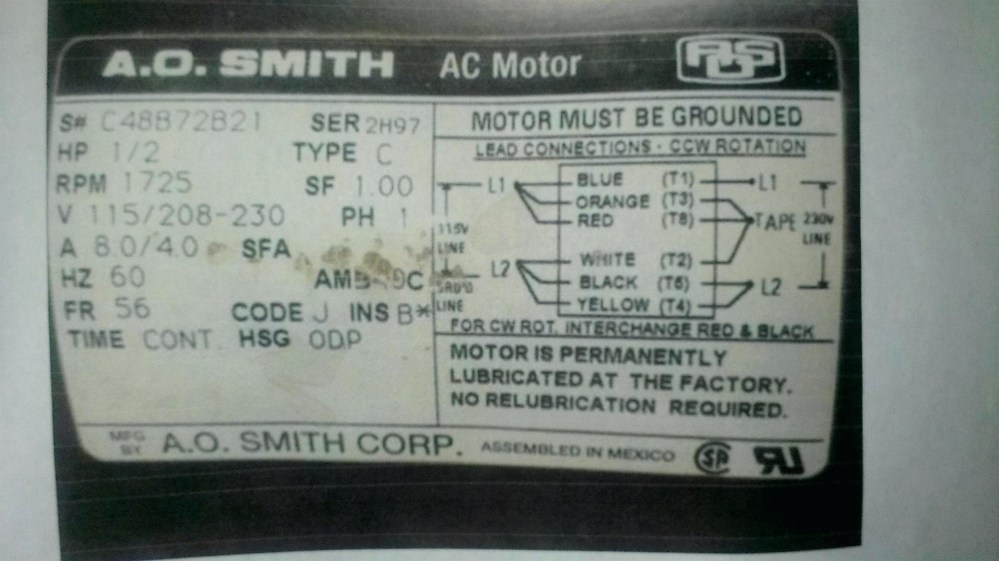 medium resolution of ao smith electric motor wiring diagram ao smith pool pump motor parts diagram century