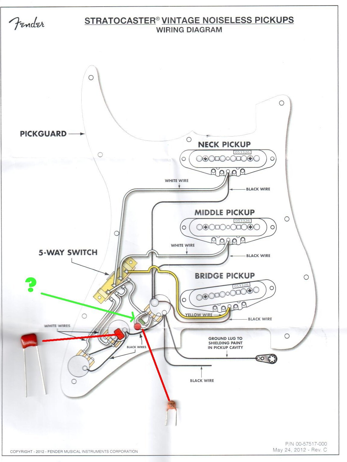 fender n3 wiring diagram 2005 toyota tacoma parts hot noiseless gallery