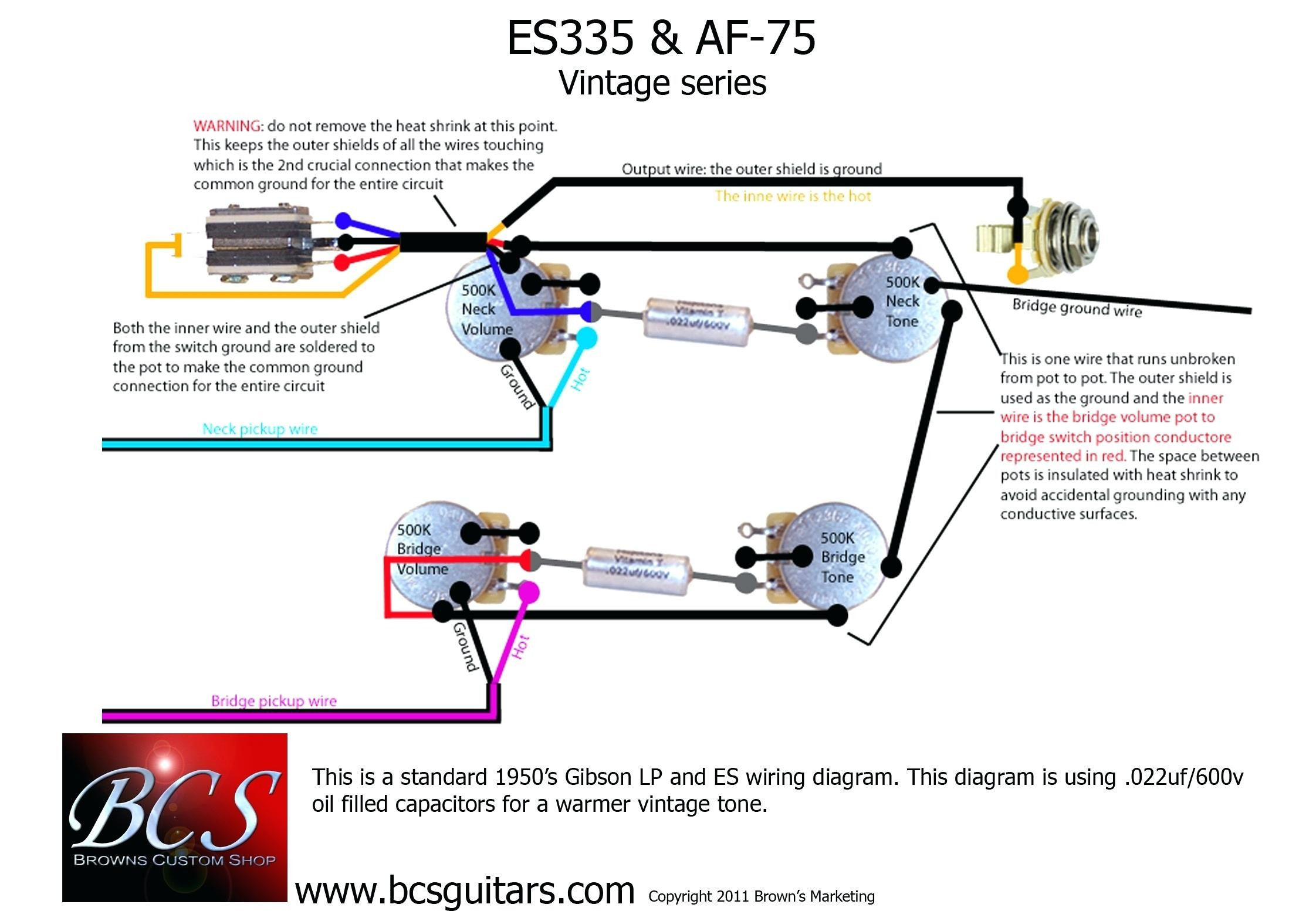 Gibson 57 Classic 4 Conductor Wiring Diagram Gallery