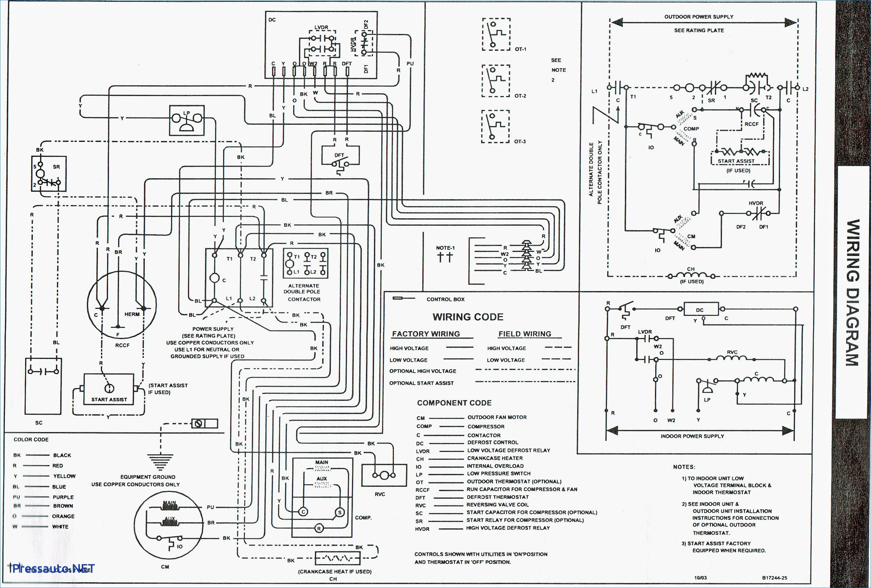 wiring diagram for york air handler
