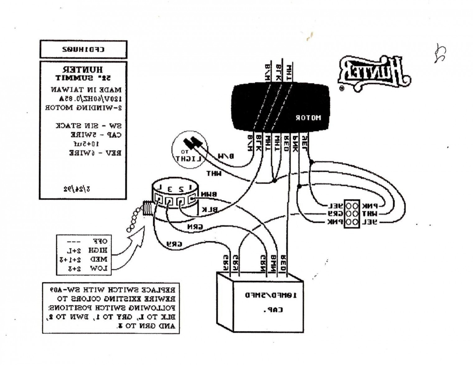 Hampton Bay 3 Speed Ceiling Fan Switch Wiring Diagram Download