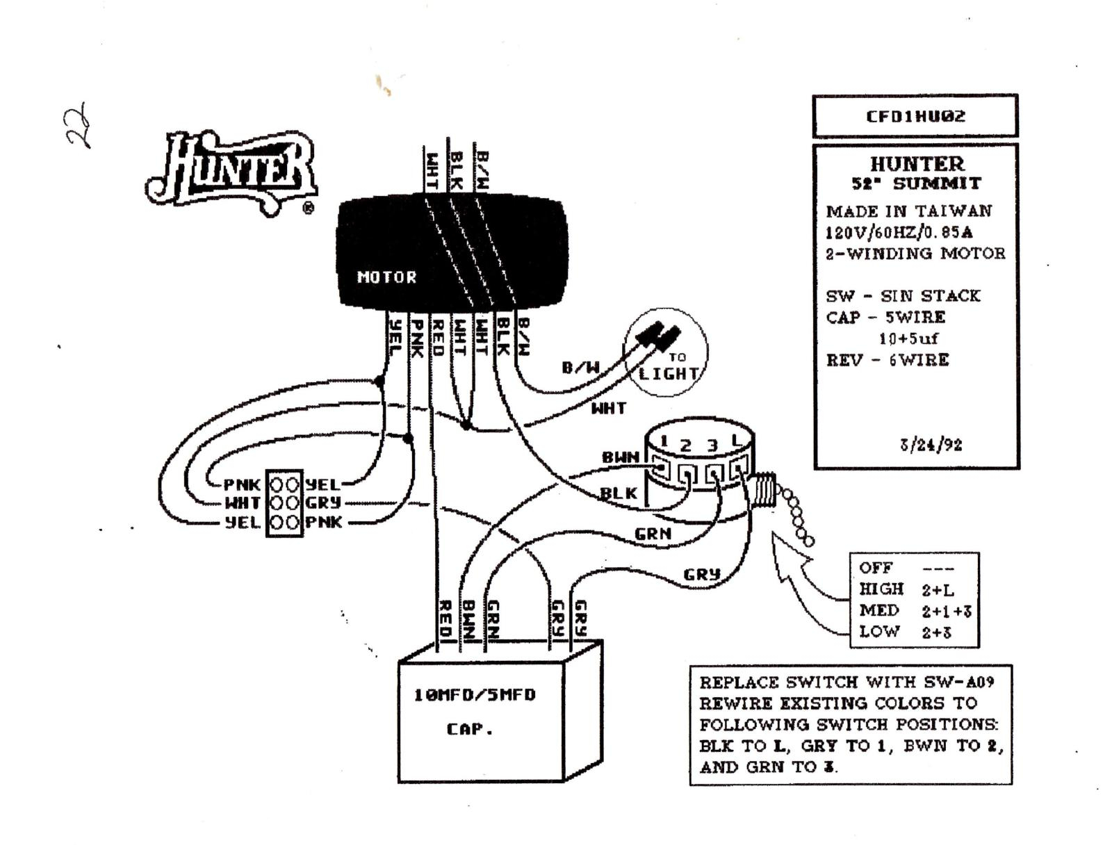 hampton fan switch wiring diagram