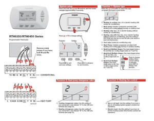 Honeywell Rth3100c1002 to A Wiring Diagram Gallery