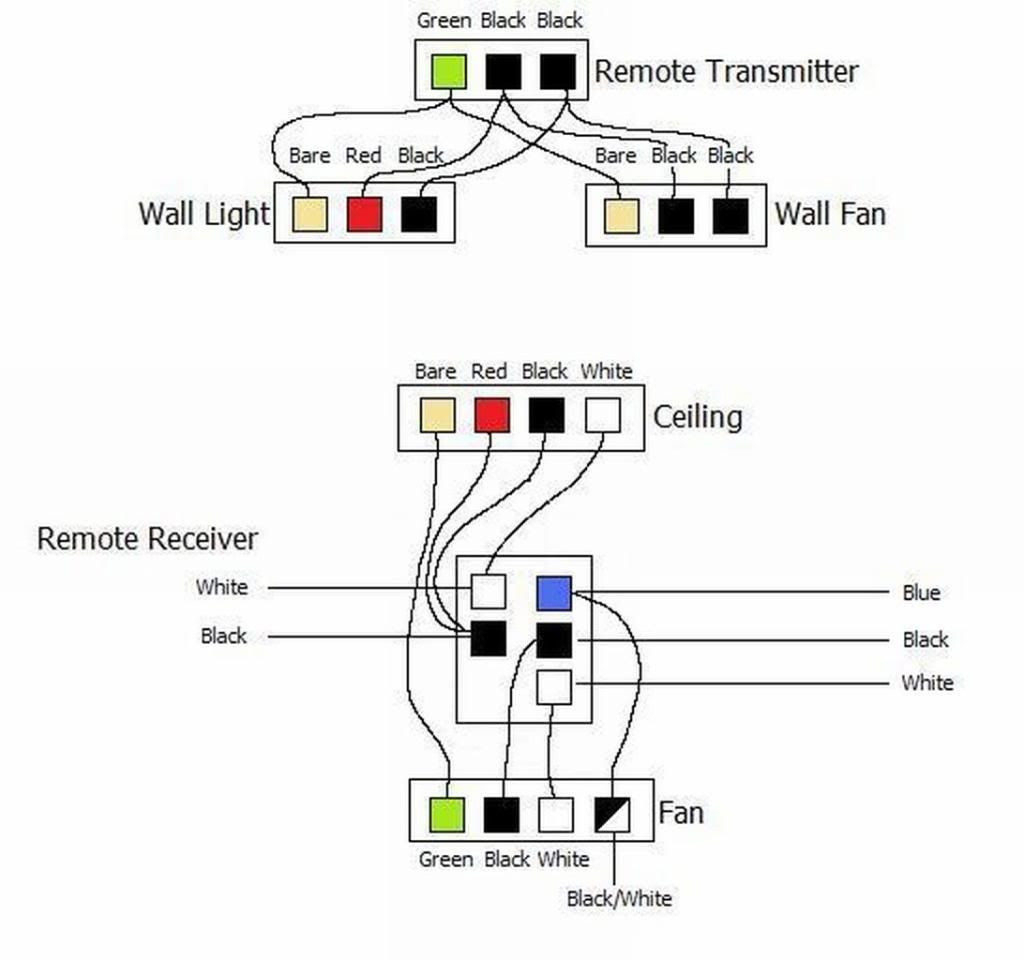 remote control wiring diagram for ceiling fan