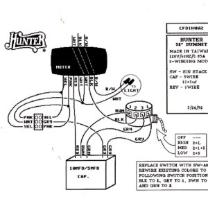 Hunter Ceiling Fan Pull Switch Wiring Diagram Sample