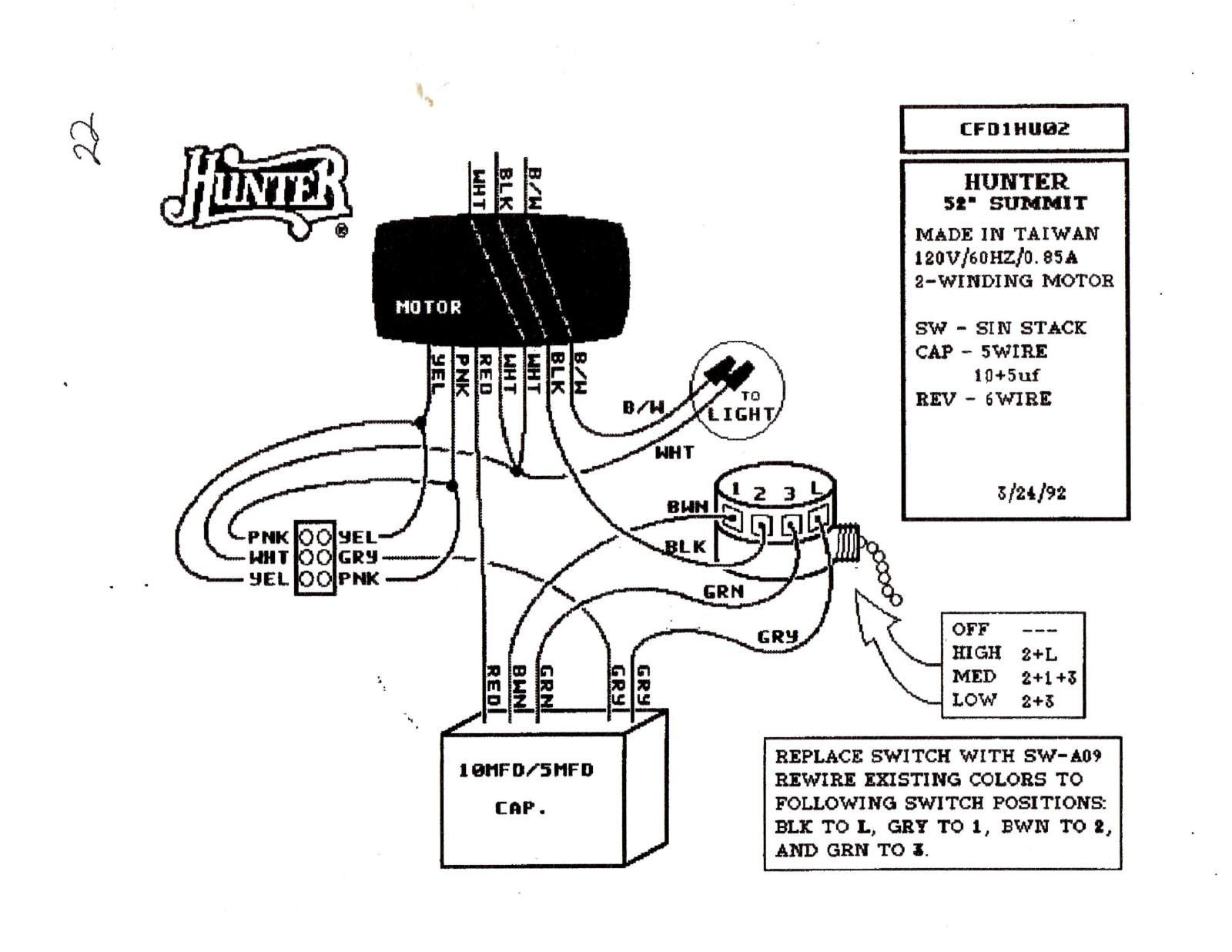 Hunter Ceiling Fan Wiring Diagram Collection