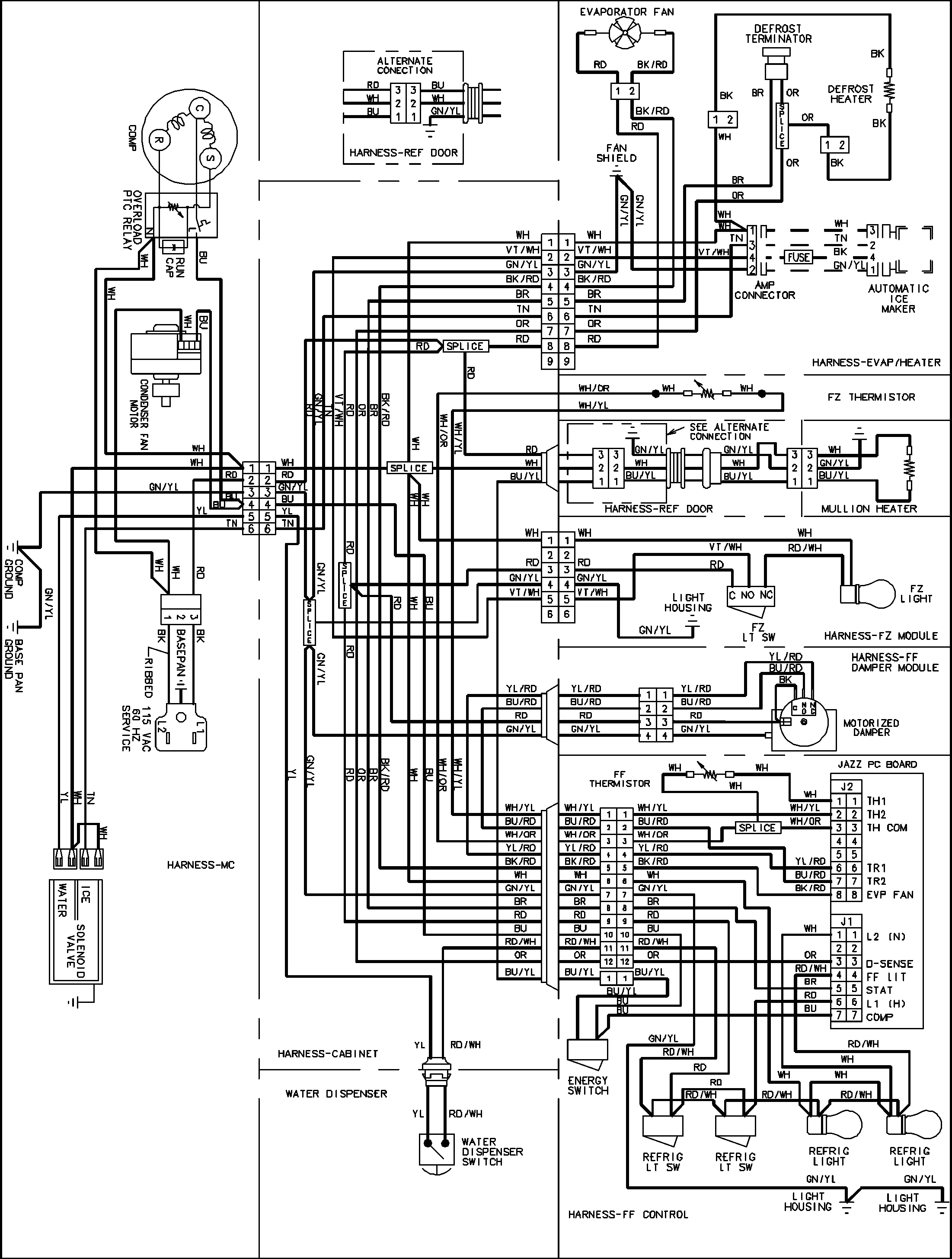 Maytag Refrigerator Wiring Diagram Sample