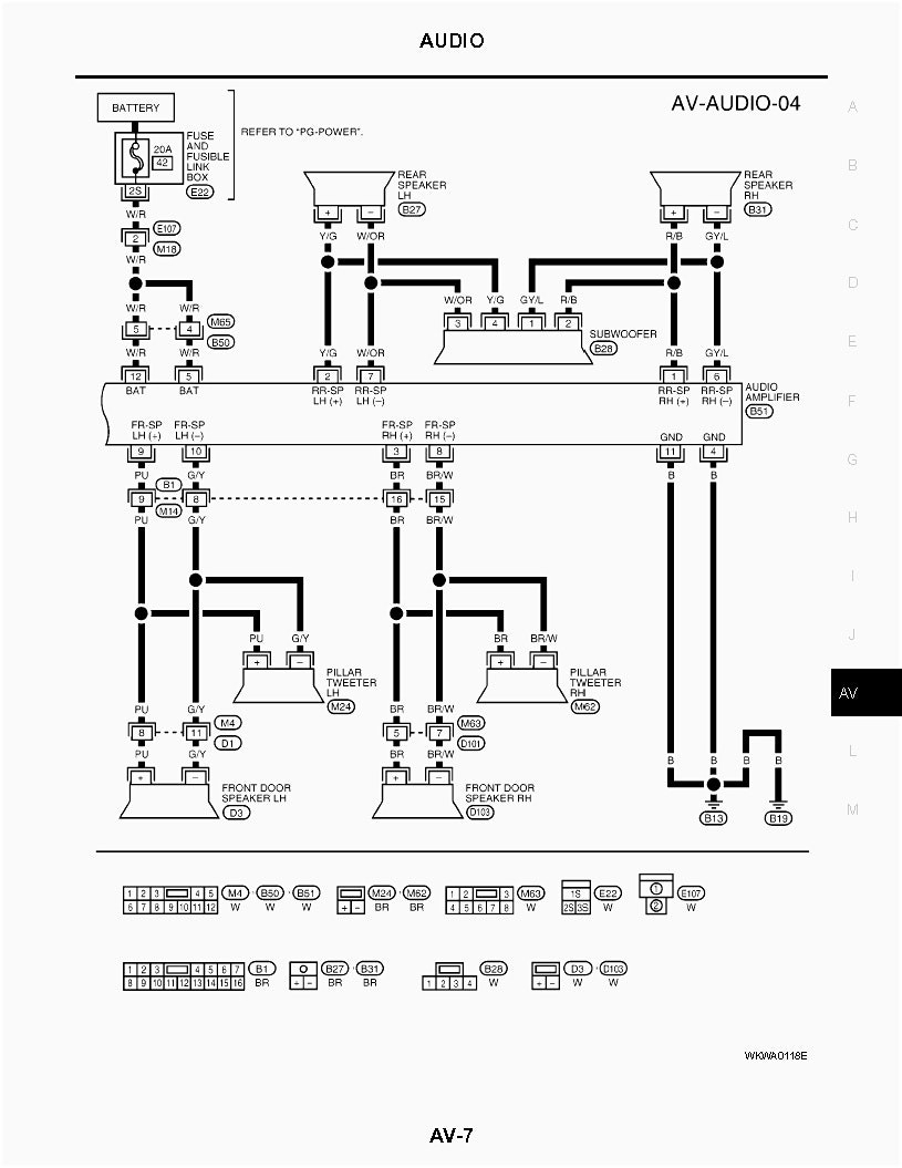 [DIAGRAM] Audio Wiring Diagram Nissan FULL Version HD