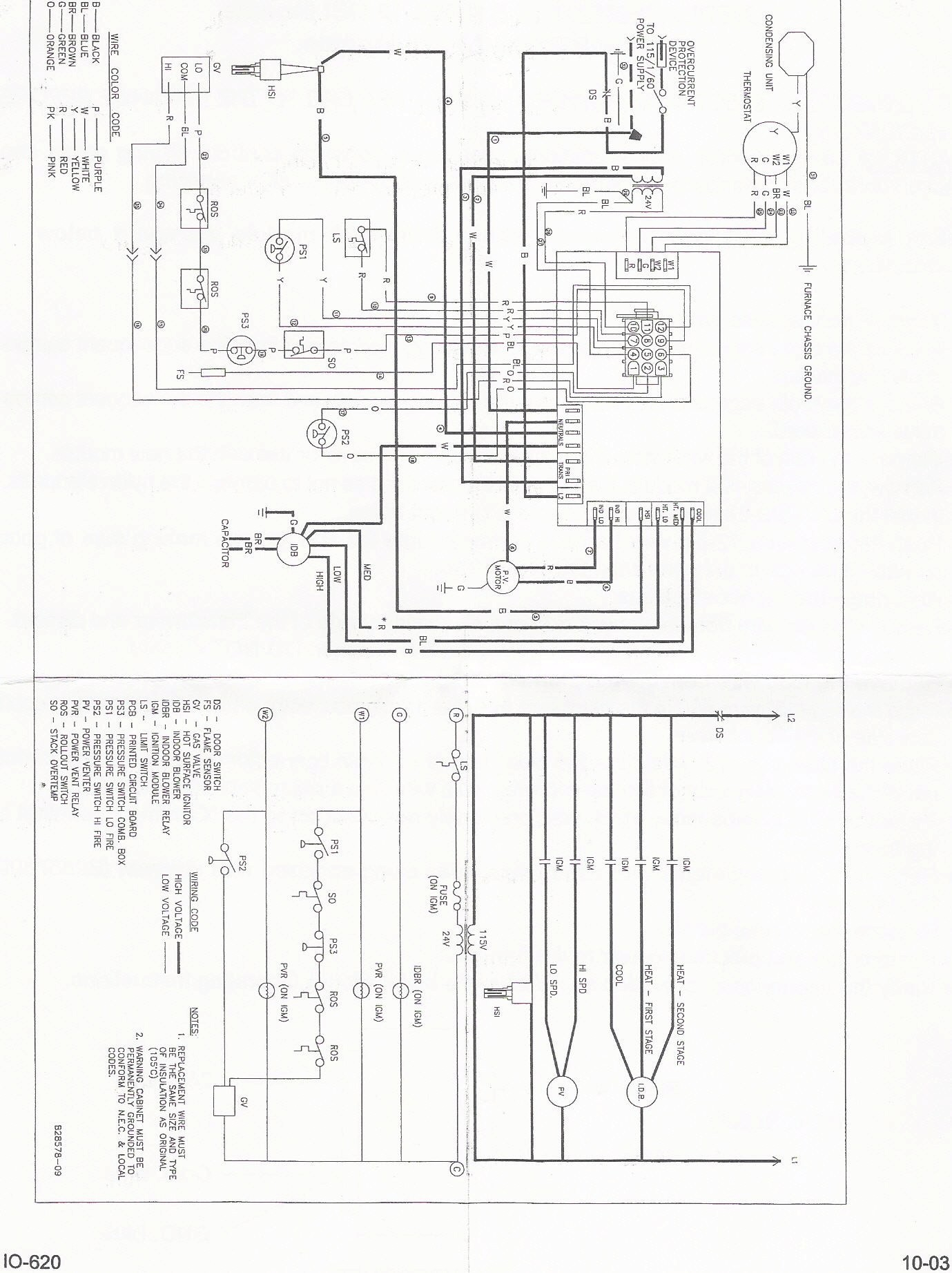 Rheem Package Unit Schematic