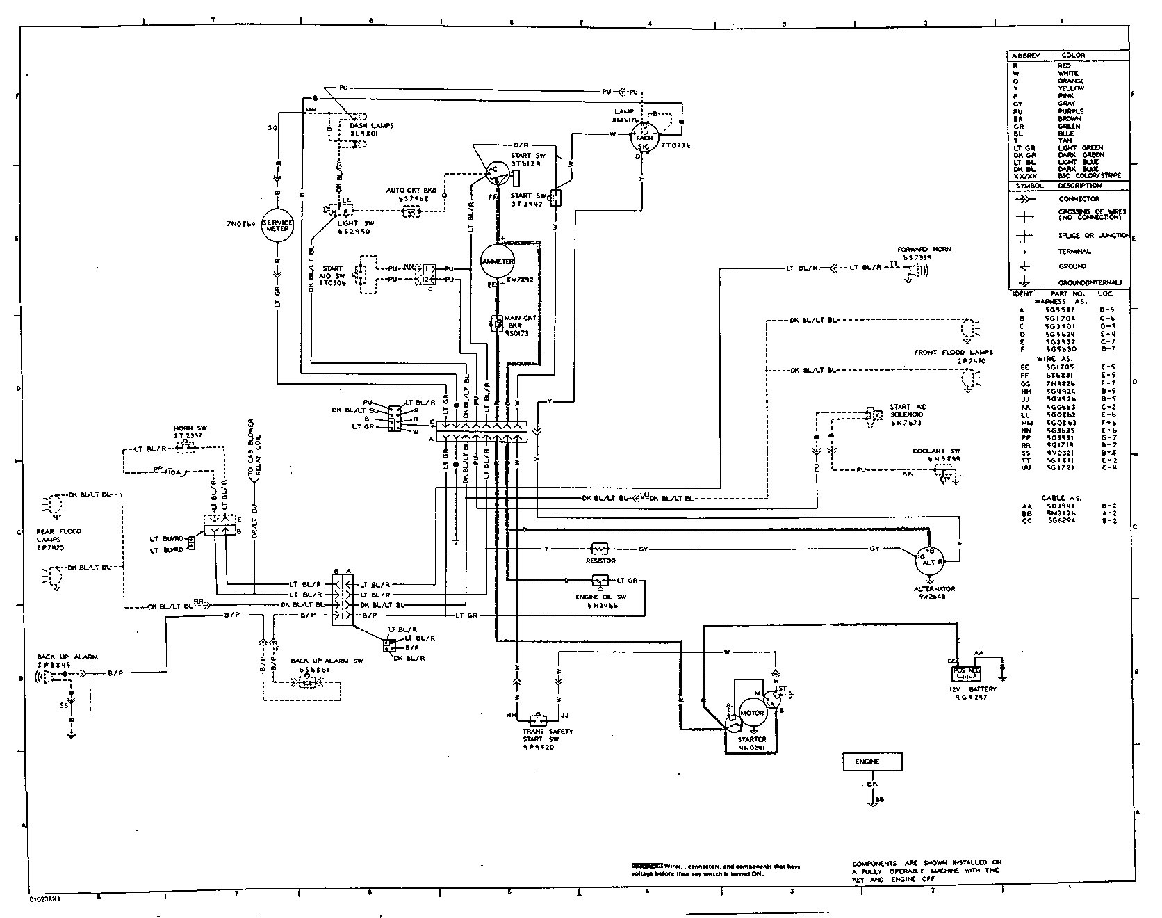 complex electrical wiring diagram