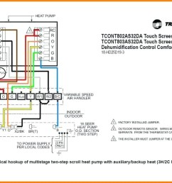 wiring color code moreover heat pump thermostat wiring furthermore bryant air handler wiring diagram [ 1037 x 777 Pixel ]