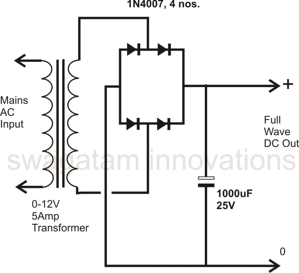 medium resolution of wiring diagram bridge rectifier ponent how to design a power supply circuit simplest the most