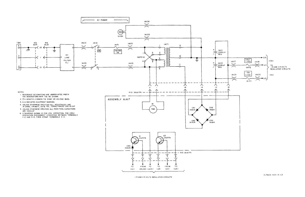 medium resolution of wiring diagram for a power pack pp 20 figure 8 20 ac power and rectifier