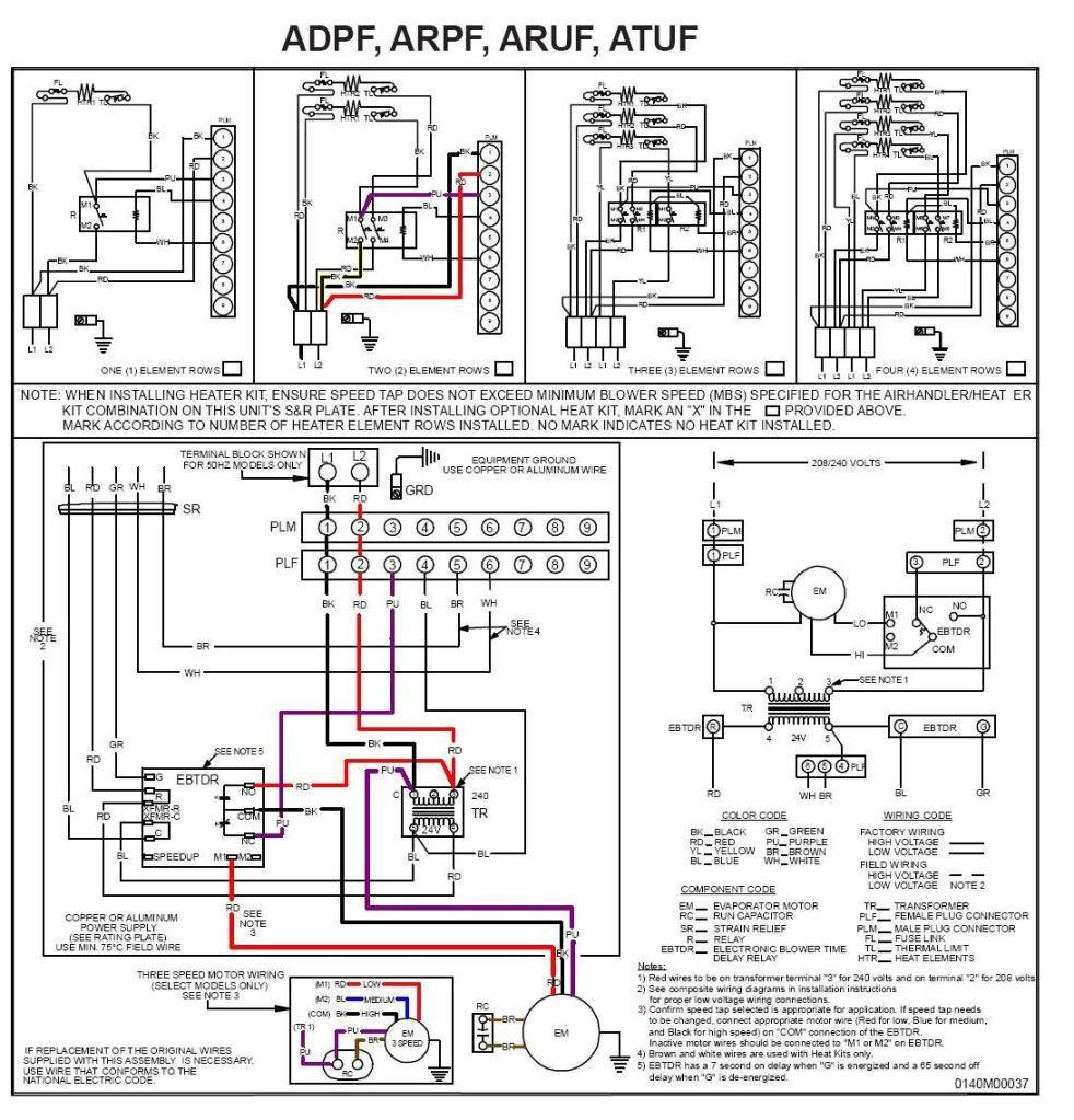 Wiring Diagram for thermostat to Furnace Collection