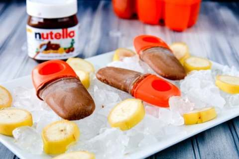 Image result for Banana Nutella Fudgesicles