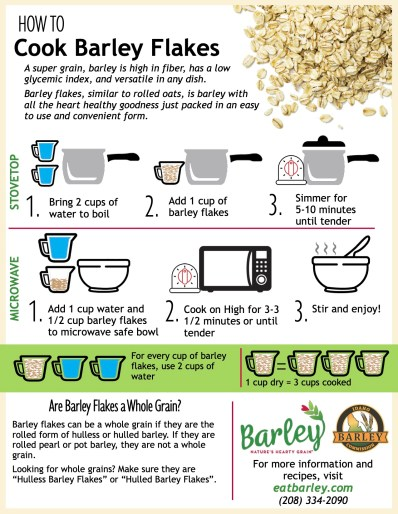 How-to guide for cooking barley flakes