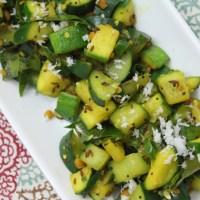 Cucumber Zucchini Stir Fry (Poriyal/Palya)