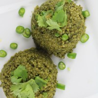 Spinach and Broccoli Cracked Wheat(broken wheat/Daliya) pilaf