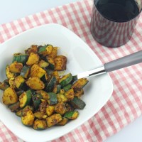 Zucchini Aloo Jeera (Zucchini and Potato with Dry Indian Spices)