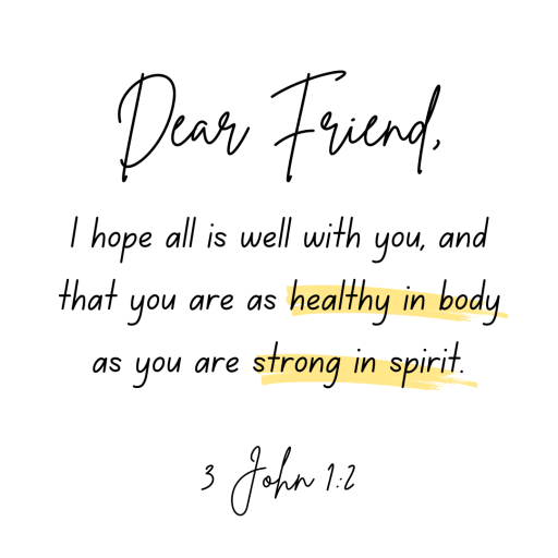 What scripture says about health in 3 John 1:2. Episode 37 of The Inside Out Wellness Podcast connect Body, Mind, and Spirit to Scripture.