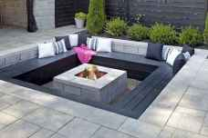 06 easy diy fire pit for backyard landscaping ideas