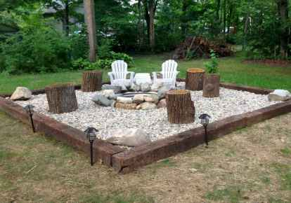 09 easy diy fire pit for backyard landscaping ideas
