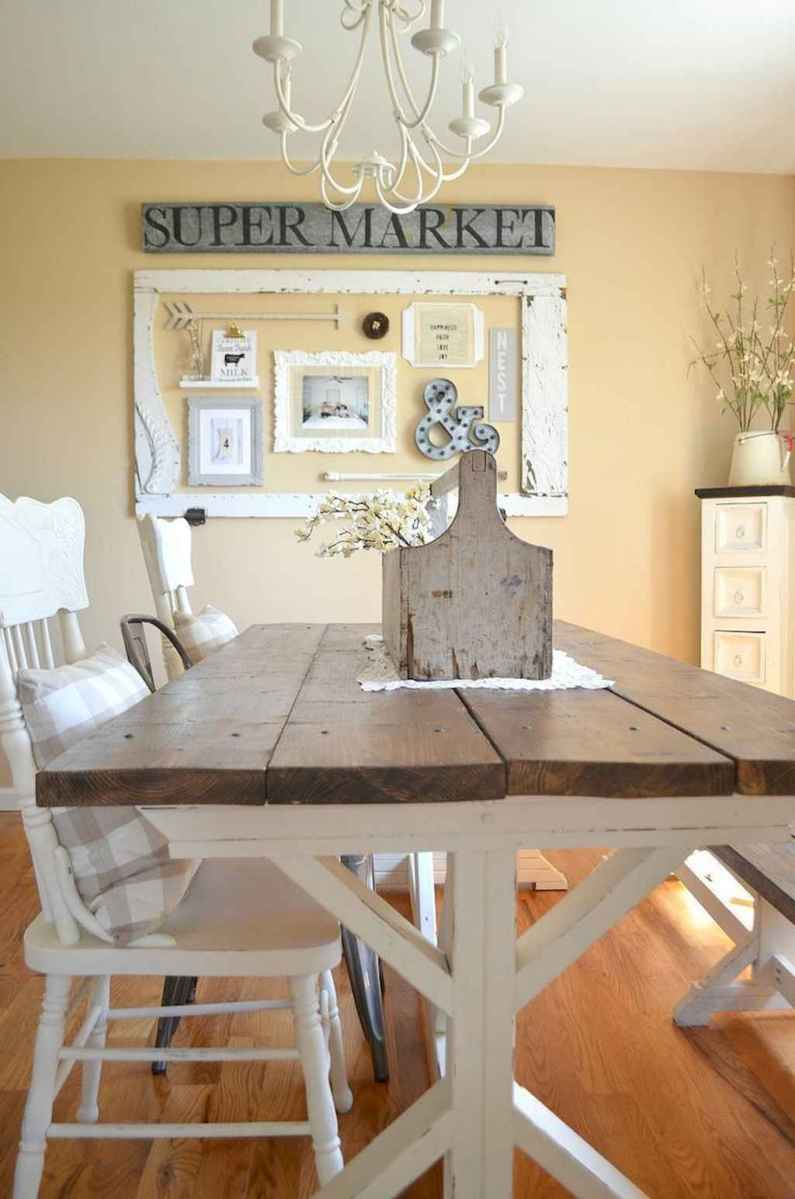 68 gorgeous farmhouse dining room table and decorating ideas