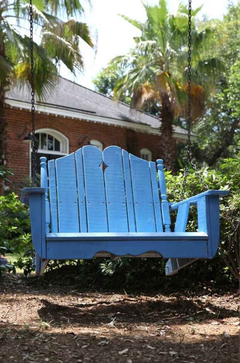 01 amazing backyard ideas with garden swing seats for summer