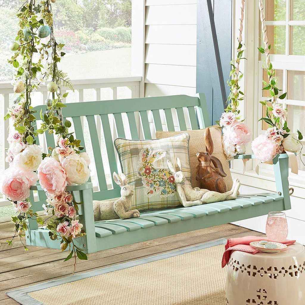 04 hang relaxing front porch swing decor ideas