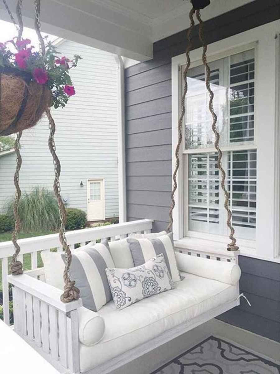 10 hang relaxing front porch swing decor ideas