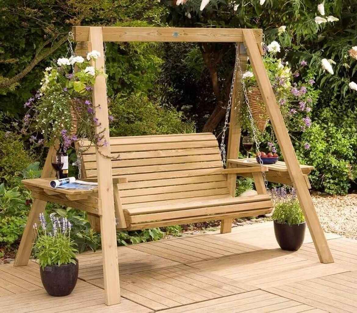 31 amazing backyard ideas with garden swing seats for summer