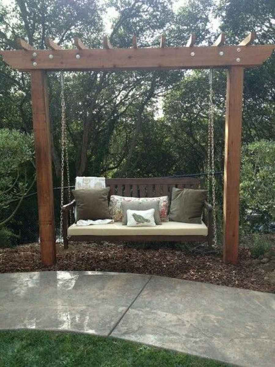 65 amazing backyard ideas with garden swing seats for summer