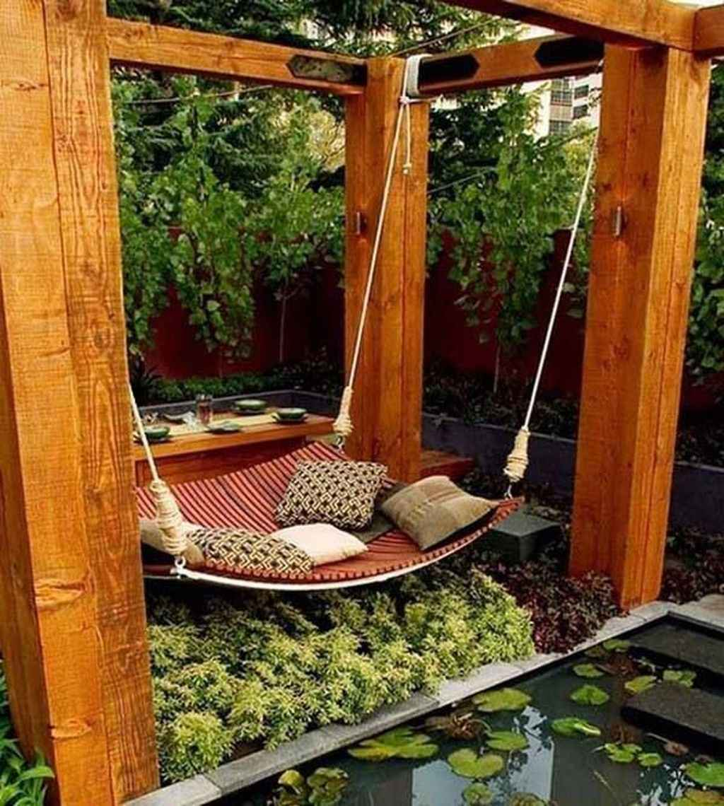 66 amazing backyard ideas with garden swing seats for summer