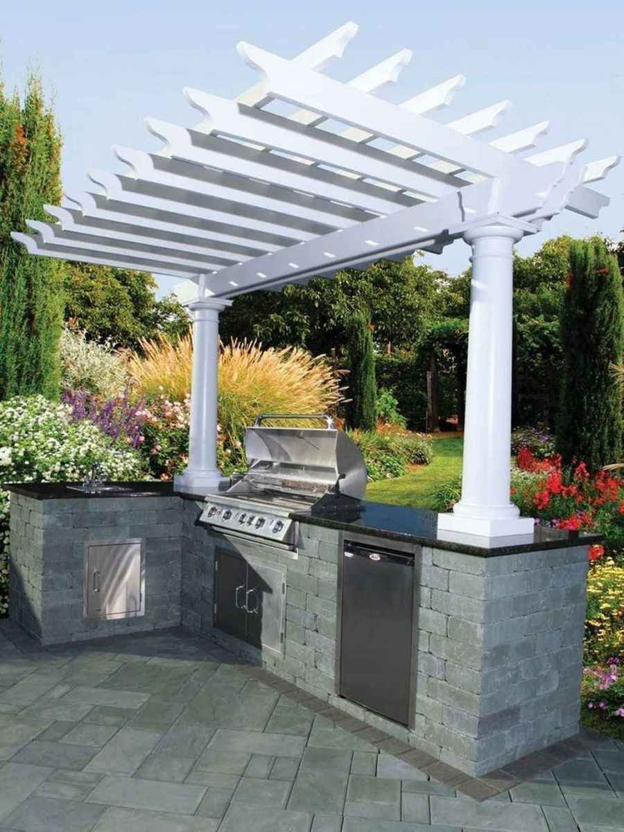 77 best outdoor kitchen and grill for summer backyard ideas