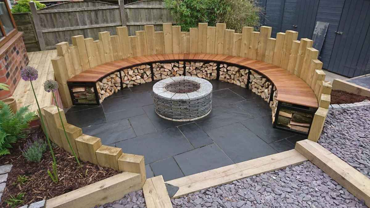 78 awesome outdoor fire pit seating design ideas for backyard