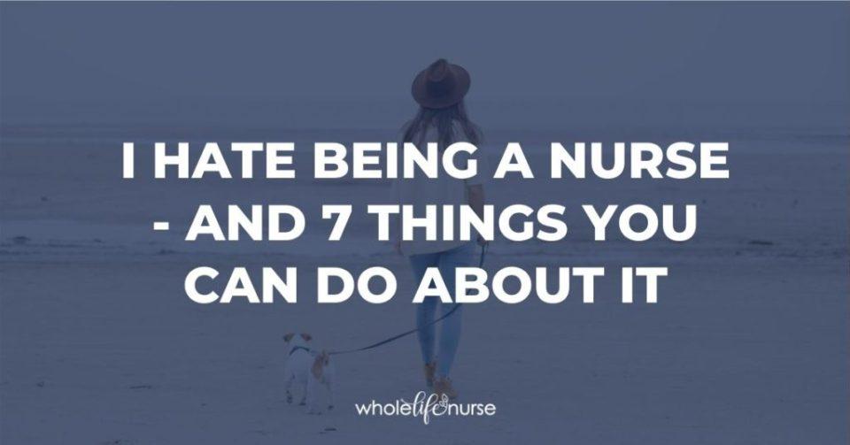Unhappy nurse