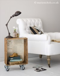 Cute Side Table {Notebook Shoot}