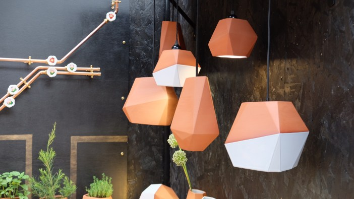 Terracotta Lamps featured at Design Junction