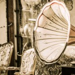 An antique gramophone at a Flea Market