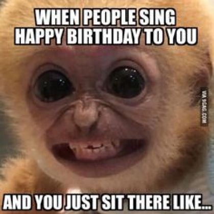 when people sing happy birthday to you meme
