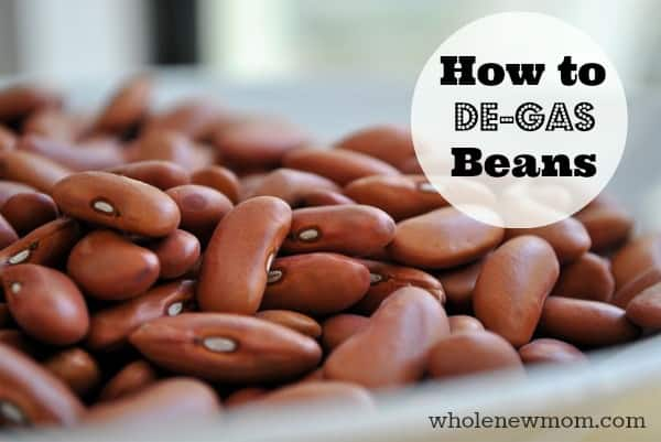 """How to De-Gas Beans. This REALLY works! Find out how to take the gas out of beans and make sure you don't end up """"gassing"""" everyone else out after eating a bean-filled meal!"""