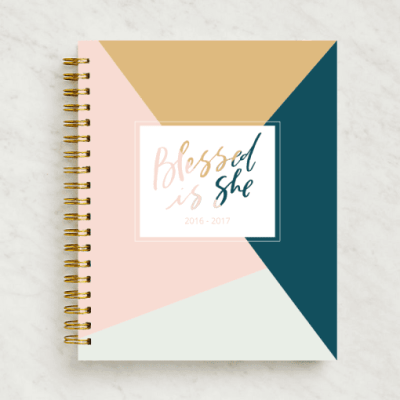 And who wants a planner from Blessed is She? {giving you one!} CLOSED